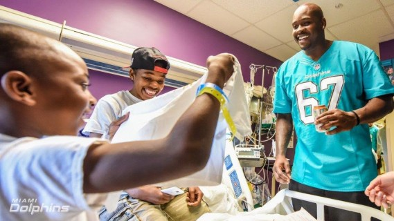 Laremy Tunsil at Baptist Childrens Hospital