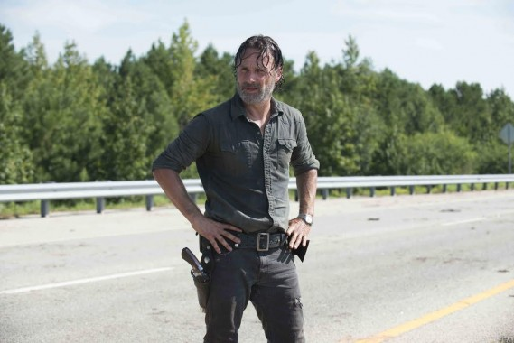 """Andrew Lincoln as Rick Grimes in AMC's """"The Walking Dead"""" Season 7. Photo Credit: Gene Page/AMC"""