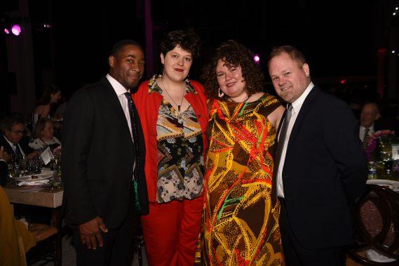 Franklin Sirmans, Alyssa Polk, Christina Quarles, and Tobias Ostrander. Photo by WorldRedEye.com.