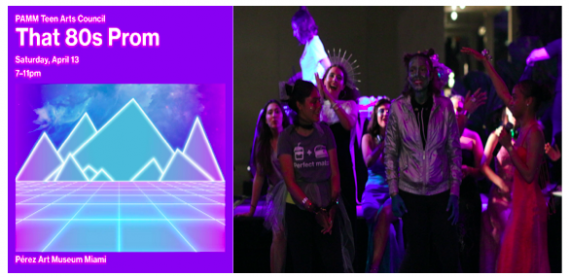 LEFT: That '80s Prom | RIGHT: Space Prom 2018 at PAMM, Photo credit: Pamela Gonzalez