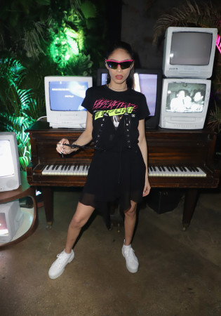 Sharon Ilu: Black Jersey Asymmetric Dress form the Diesel Spring 2019 Collection
