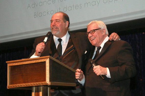 Actors' Playhouse Artistic Director David Arisco and Celebrity Auctioneer Bob Soper. Photo by Alberto Romeu.
