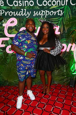 Rapper/comedian FatBoy SSE joined Carma Foundation founder Melky Jean during a recent fundraiser at Seminole Casino Coconut Creek.