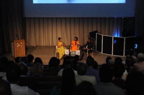 María Elena Ortiz, Dr. Marsha Pearce, and Jason Jeffers