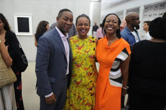 PAMM Director Franklin Sirmans, María Elena Ortiz, and Dr. Marsha Pearce