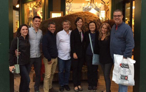 From left to right: Ally Goodman, Derek Powell, Ken Every, Simon Shiao, Anna Genest, Tomoko Iguchi, Eva Cappelletti Chao and Tom Hadley