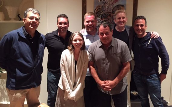 From left to right: Jerome Simas, Shawn Weil, Julia Noone, Bjorn Ranheim, Jeff Biancalana, Alasdair Neale and Alex Orfaly