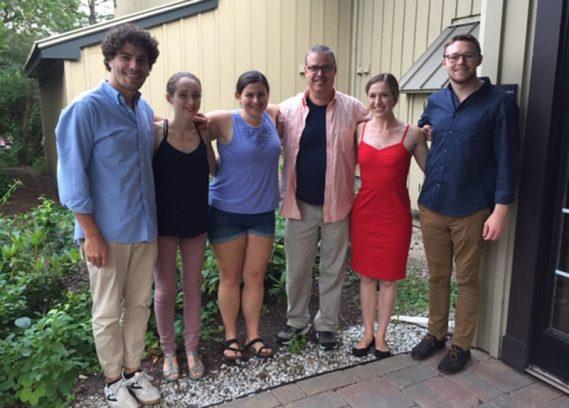 From left to right: Giovanni Bertoni, Emily Beare, Lisa Stoneham, Tom Hadley, Chloe Tula and Sam Pedersen