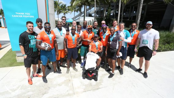 Dolphins current and former players at the DCC
