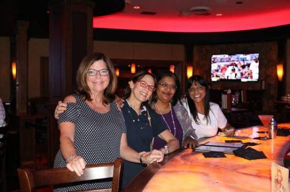 Eileen Ayres, Cindy Buckley, Neeta Shaw and Neena Nohnani