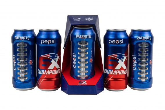 Pepsi Limited-Edition New England Patriots Laces Shaped Can