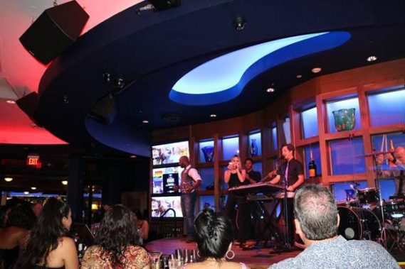 Live band, Higher Ground, picking raffle winners