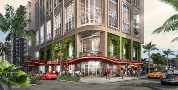 A rendering of the upcoming Virgin Hotels Miami. (Virgin Hotels)