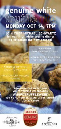 Genuine White Truffle Dinner with Urbani & Marchesi Antinori