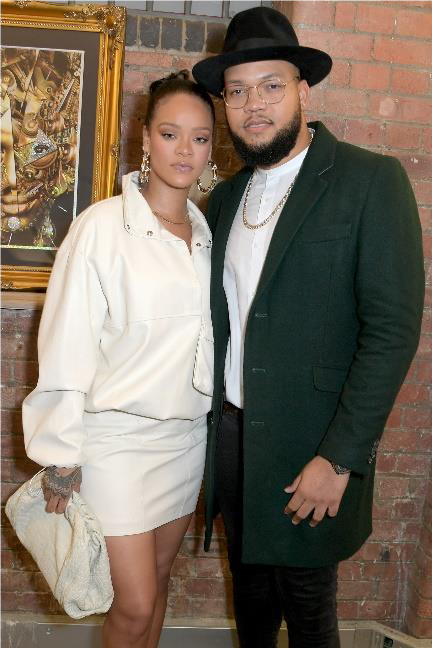 LONDON, ENGLAND - OCTOBER 10: Rihanna and Rorrey Fenty attend the Legado x Faberge x Rome de Bellegarde VIP party at The Vinyl Factory Gallery on October 10, 2019 in London, England. (Photo by David M. Benett/Dave Benett/Getty Images for Faberge)