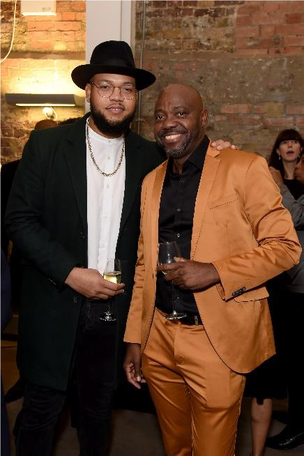 LONDON, ENGLAND - OCTOBER 10: Lester Brathwaite and Rorrey Fenty attend the Legado x Faberge x Rome de Bellegarde VIP party at The Vinyl Factory Gallery on October 10, 2019 in London, England. (Photo by David M. Benett/Dave Benett/Getty Images for Faberge)