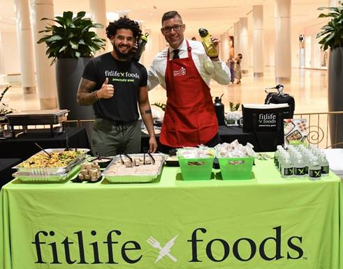 Lucas Matos with Fit Life Foods and Austin Bergman.