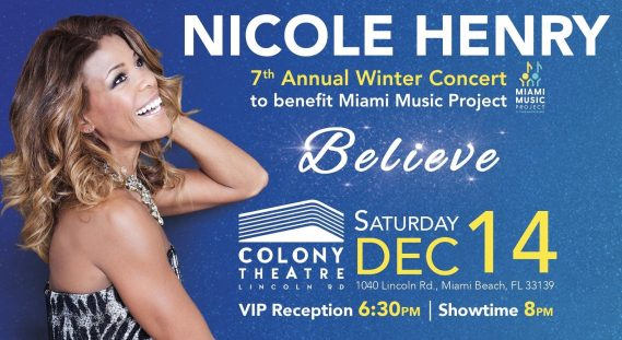 Nicole Henry announces her 7th Annual Winter Concert in Miami Beach, Florida