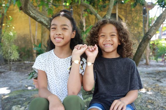 Jayde and Zane Marley wear the PIC LOVE Rasta Bracelet and Black Bracelet.