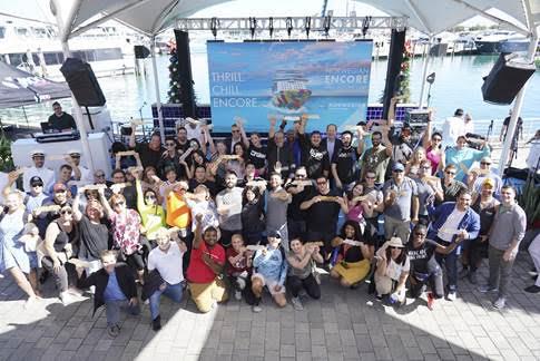 Norwegian Encore Miami Scavenger Hunt Golden Ship Winners on November 19, 2019 in Miami  (Nov. 19, 2019 - Source: Getty Images North America)