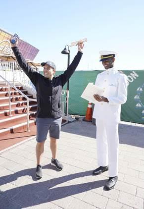 Norwegian Encore Miami Scavenger Hunt Golden Ship Winner on November 19, 2019 in Miami  (Nov. 19, 2019 - Source: Getty Images North America)