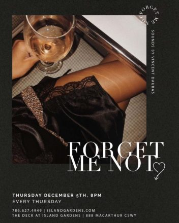 Forget Me Not Launch Party at The Deck Island Gardens