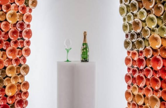 Maison Perrier-Jouët X Andrea Mancuso at Design Miami/2019  With Metamorphosis, Perrier-Jouët expands its dialogue between nature, champagne and design to offer a new, artistic tasting ritual
