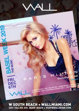 Paris Hilton WALL Miami