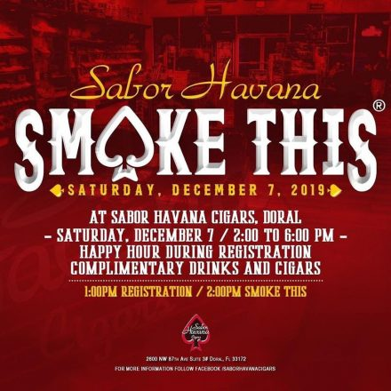 SABOR HAVANA TO HOST SOUTH FLORIDA'S PREMIER ANNUAL CIGAR EVENT