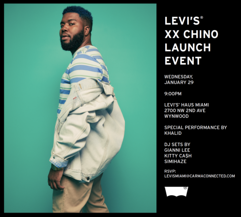 Levi's XX Chino Launch with Performance by Khalid