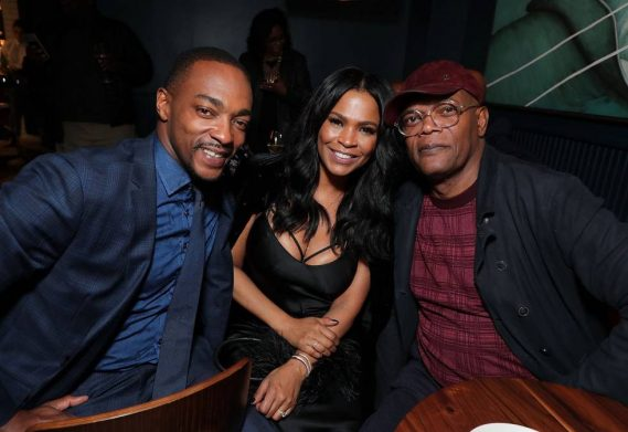 "Anthony Mackie, Nia Long, and Samuel L. Jackson attend ""The Banker"" after party"
