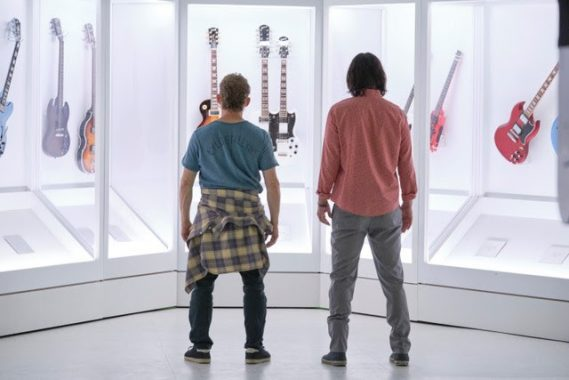Photo L-R: Alex Winter and Keanu Reeves still photo, Bill & Ted Face the Music. Courtesy: Orion Pictures.