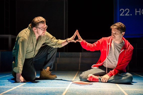 The Curious Incident of the Dog in the Night-time (Best Production, Play), with Steven G. Anthony and Ryan Didato (Best Actor, Play)  (Photo Credit: Justin Namon)