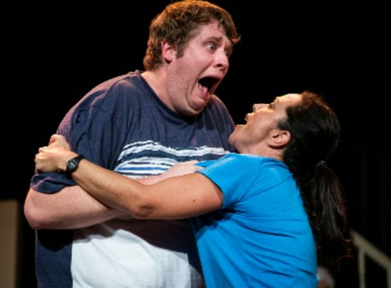 Falling, with Timothy Mark Davis (Best Actor, Play) and Arlette del Toro  (Photo Credit: Ryan Arndt)