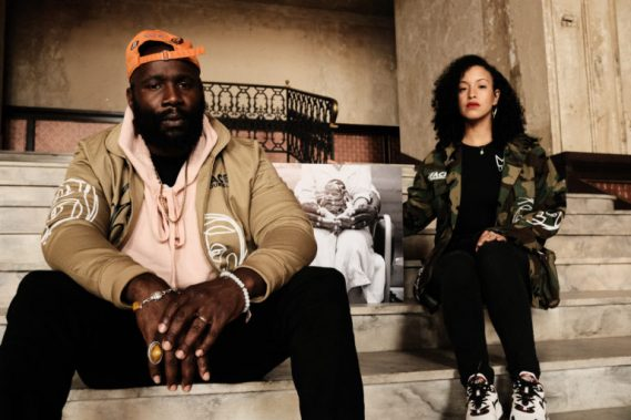 """Karega & Felicia Gangloff-Bailey sitting with a photo of their """"Angel Baby"""" Kamaiu. The couple is featured on the Black Love docuseries October 10, 2020. (Photo courtesy of Kevin Allen)"""