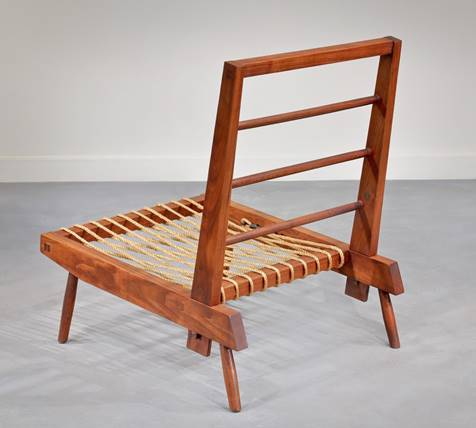 Prototype Lounge Cushion Chair, George Nakashima, Courtesy Moderne Gallery