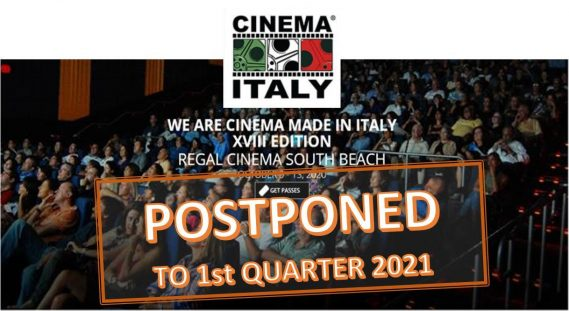 CINEMA ITALY MIAMI 2020 - POSTPONED to 1st quarter of 2021