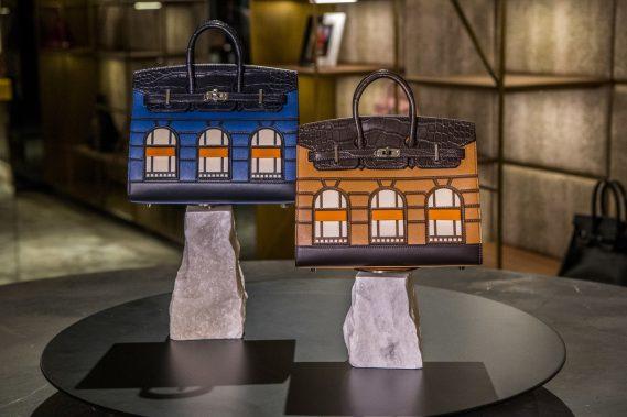 Photo credit World Red Eye; Hermès 20cm Birkin Faubourg Night & Hermès 20cm Birkin Faubourg Day the extremely rare set, in unused condition, onsale for $450,000
