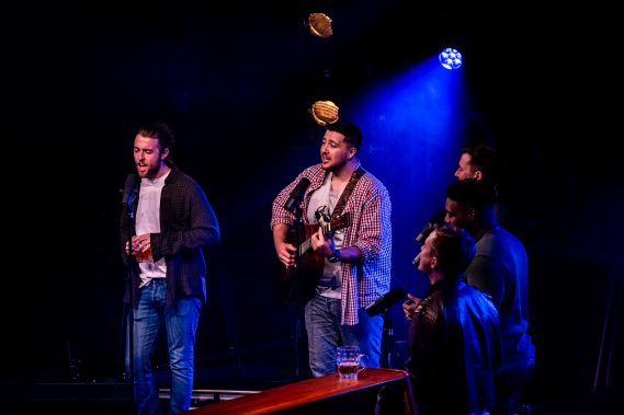"""""""The Choir of Man"""" is an immersive pub experience available on Norwegian Encore and Norwegian Escape that features ordinary guys who perform everything from sing-along favorites to classic rock."""