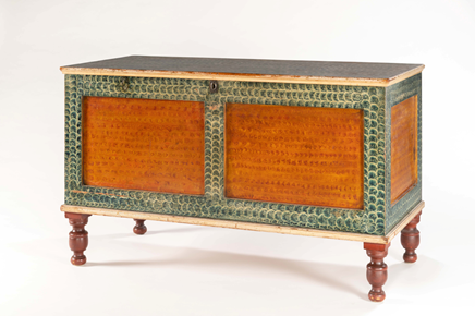 Olde Hope Paint-Decorated Blanked Chest from c. 1830-1840 ©Olde Hope