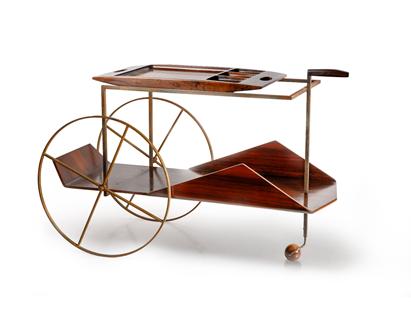 Tea Cart by Jorge Zalszupin ©Mercado Moderno